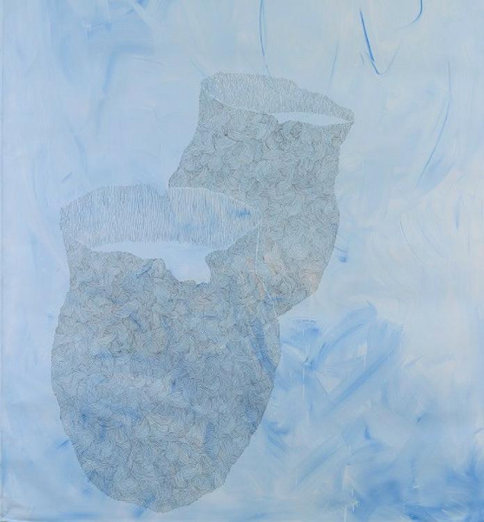 Peter Kim _ Senza Titolo, 2011 tecnica mista su tela, 162 x 130 cm