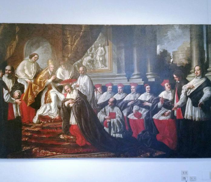 palazzo braschi consegna del cappello cardinalizio ad Agostino Chigi