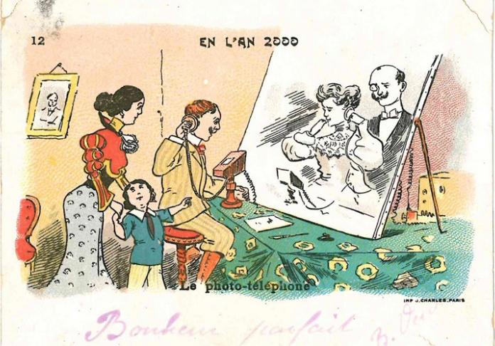 Vero o falso Il foto-telefono, ca. 1900