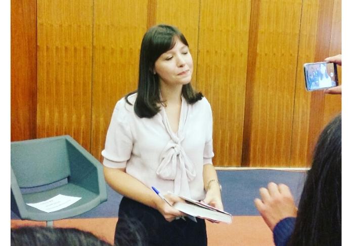 Alessia Gazzola in conferenza per L'Allieva 2 Ph Emanuela Dottorini