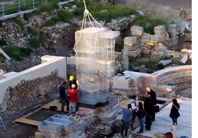 Edoardo Tresoldi Basilica di Siponto work in progress