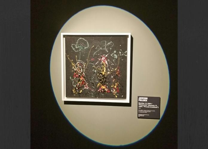 Jackson Pollock Number 17 950 Fireworks 1950 in esposizione alla mostra in corso al Vittoriano POLLOCK E LA SCUOLA DI NEW YORK Ph Emanuela Dottorini