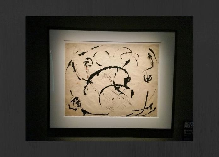 Jackson Pollock Untitled c. 1950 in esposizione alla mostra in corso al Vittoriano POLLOCK E LA SCUOLA DI NEW YORK ph. Emanuela Dottorini