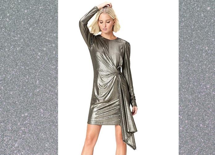 Capodanno fashion abito lurex argento