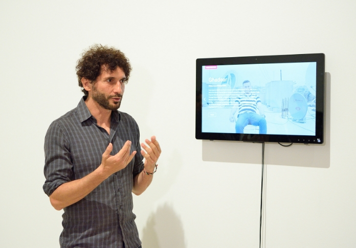 Il regista Matteo Delbò con il suo video Ghadeer 3^ classificato Digital Storytelling Breve (Claudio Panunzi Ph)