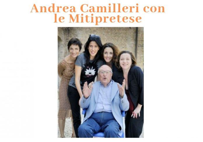 Il mio saluto ad Andrea Camilleri entusiasta promotore dei giovani qui con le Mitipretese