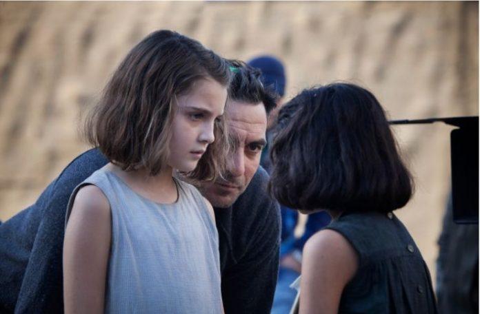 L'amica geniale Saverio Costanzo dirige Elisa del Genio left (young Elena) e Ludovia Nasti right (young Lila) in proiezione s Caleidoscopio 2019 Casa del Cinema Estate Romana 2019