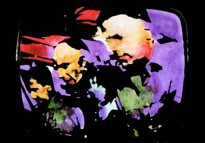 dalla terra alla luna Mario Schifano (Homs 1934 – Roma 1998) Paesaggio TV. Astronauti, 1970 smalto e aniline su tela emulsionata e perspex, cm 114 x 146 Collezione privata courtesy Fondazione Marconi, Milano