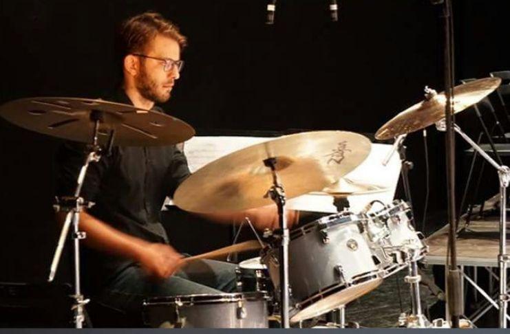 Damiano Daniele alla batteria per Monk's Mood a Villa Leopardi  Note in Biblioteca settembre 2019