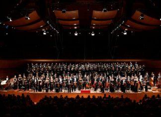 L'imponente orchestra per la Grand Messe Des Morts di Berlioz al conceto inaugurale di Santa Cecilia 2019-2020