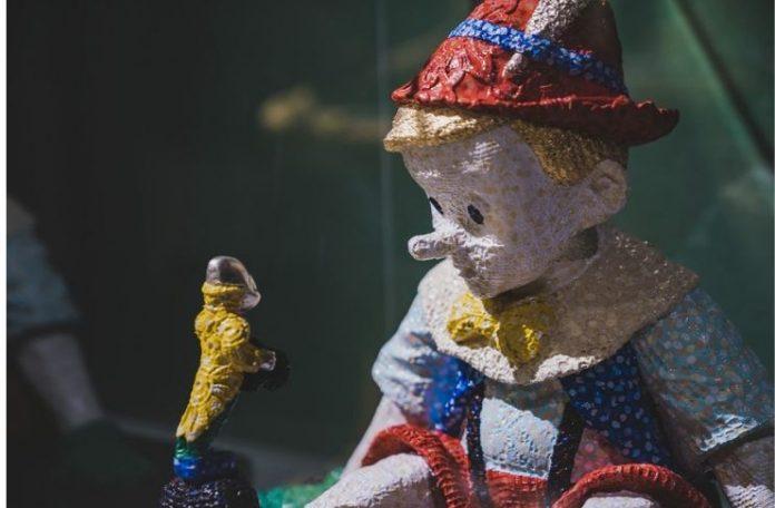 PINOCCHIO visto da Sam Havadtoy nella mostra Enigma Pinocchio.Da Giacometti a LaChapelle