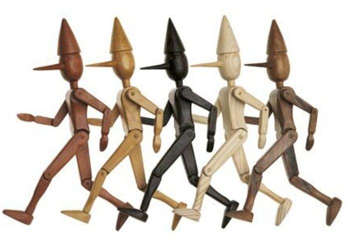 PINOCCHIO secondo Oliviero Toscani nella mostra Enigma Pinocchio.Da Giacometti a La Chapelle