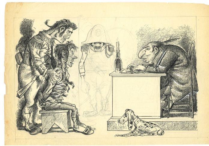 Disegno di Furio Scarpelli in mostra alla Casa del Cinema dal 16 dicembre 2019