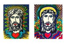 """David Ovidi due opere del ciclo """"Il volto di cristo"""" che sono il volto della Resurrezione"""