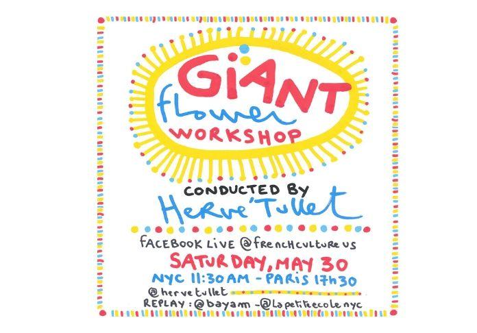 Il Giant flower workshop è un progetto di Hervé Tullet su Facebook