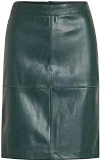 la gonna di pelle verde è perfetta come tendenza fashion d'autunno