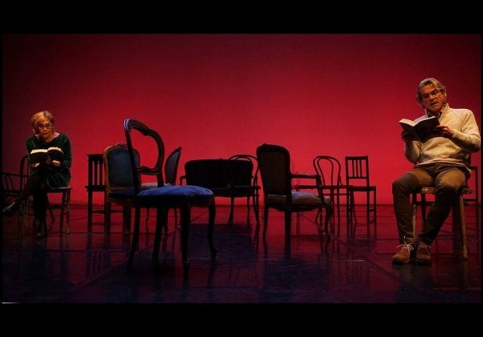 Letture in streaming di La vita istruzioni per l'uso al Teatro Vascello con Manuela Kustermann e Alkis Zakis