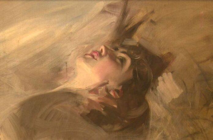 Giovanni Boldini. Il piacere. Story of the Artist (video still) Busto di giovane sdraiata